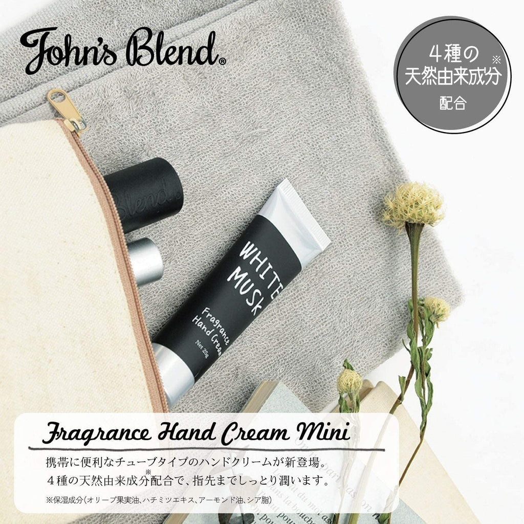 John's Blend Fragrance Hand Cream Mini Whitemusk