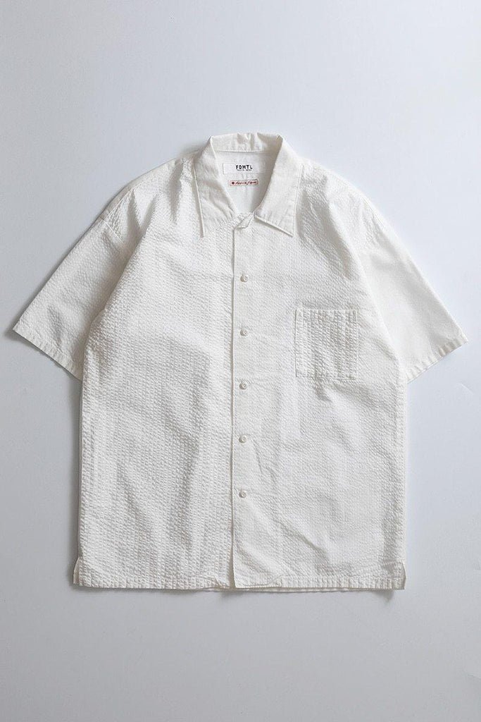 FDMTL DROP SHOULDER H/S SHIRT WHITE - BOROPBY