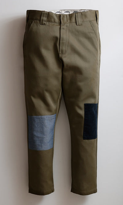 FDMTL x DICKIES PATCHWORK CROPPED PANTS