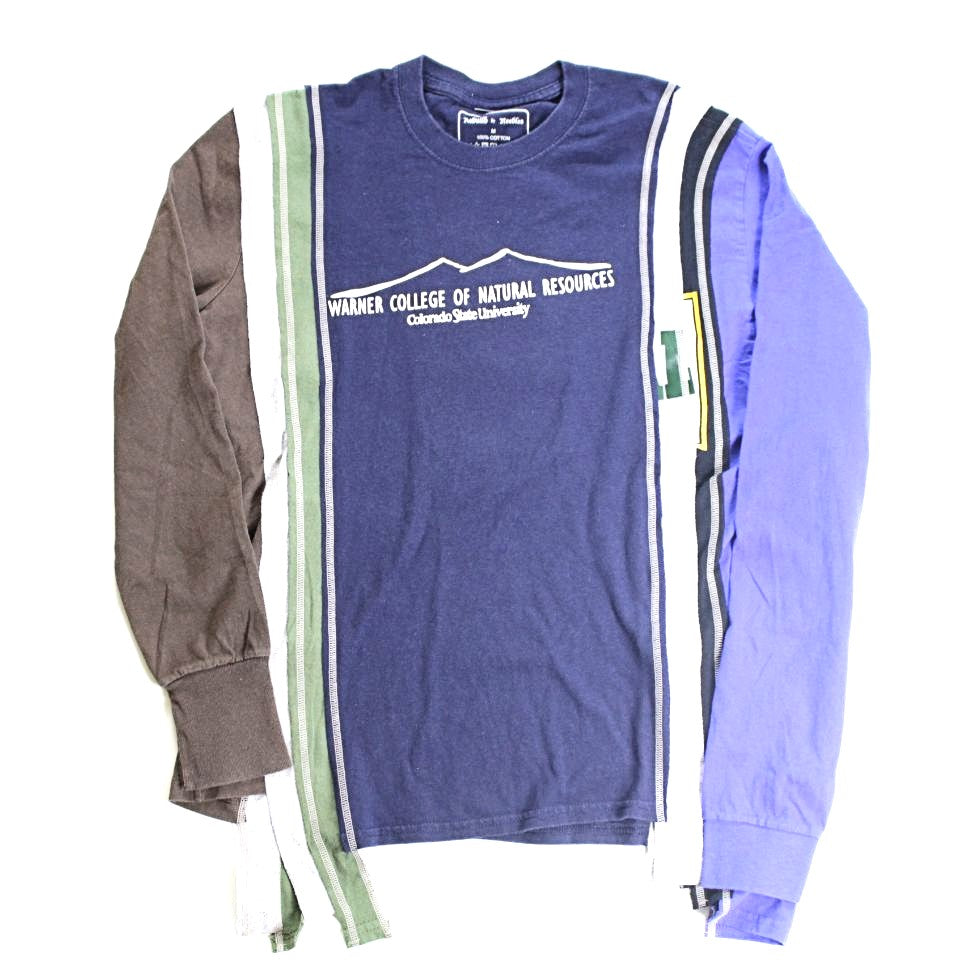 Rebuild by Needles 7 Cuts L/S Tee - College M - BOROPBY