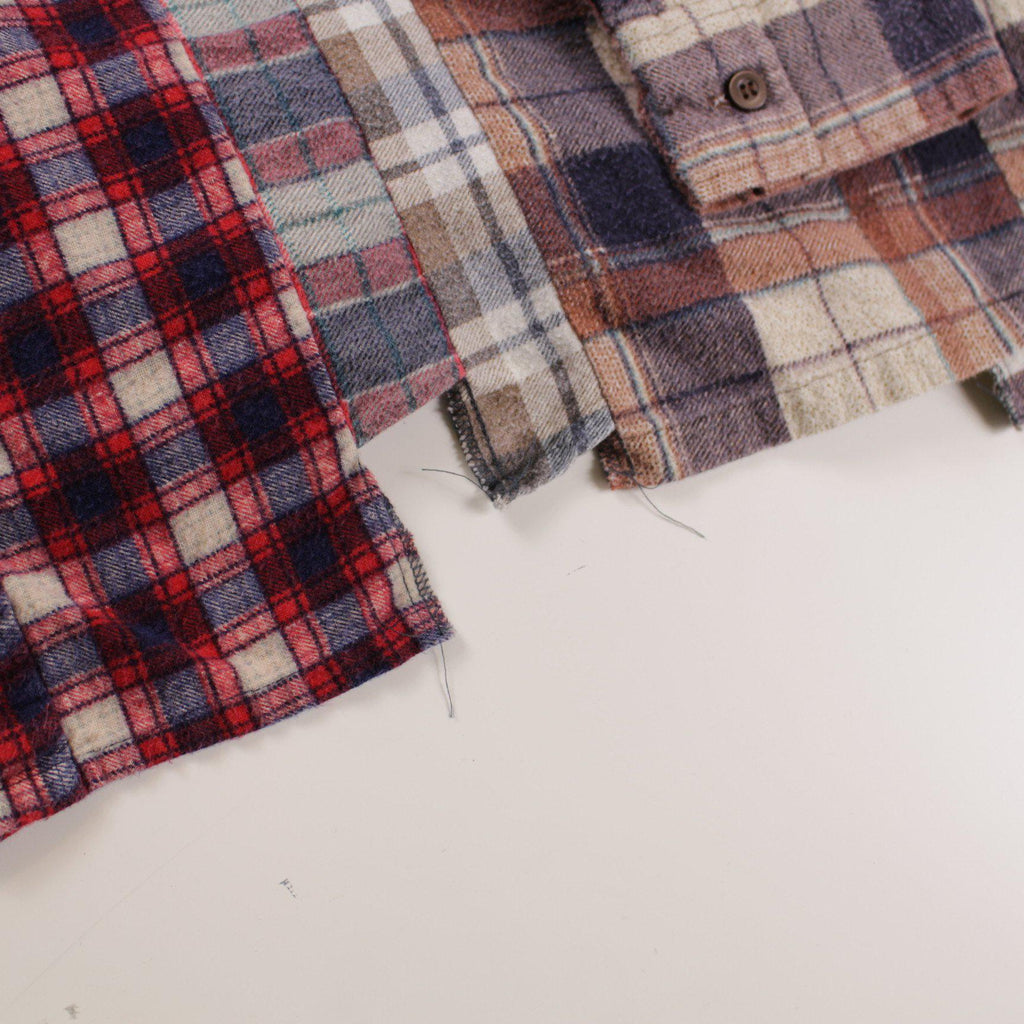 Rebuild by Needles Flannel Shirt -> 7 Cuts Shirt L - BOROPBY