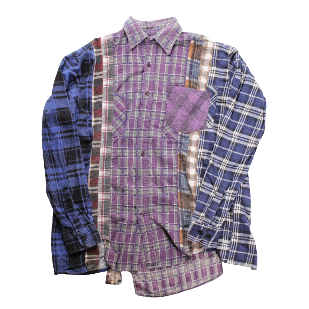 Rebuild by Needles Flannel Shirt -> 7 Cuts Shirt M - BOROPBY