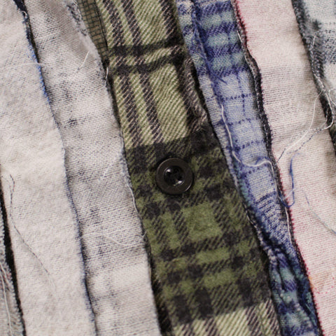 Rebuild by Needles Flannel Shirt -> Ribbon Shirt / Wide - BOROPBY