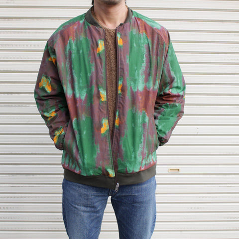 NEEDLES Rev.Rib Collar Jacket - Cotton Cloth/Print