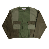 FDMTL Patchwork No collar Jacket Rinse - BOROPBY