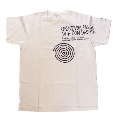 ENGINEERED GARMENTS Printed Cross Crew Neck T-shirt - Spiral