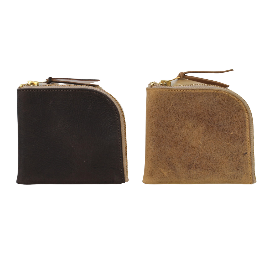 ANCHOR BRIDGE Short Zip Wallet Kudu - BOROPBY