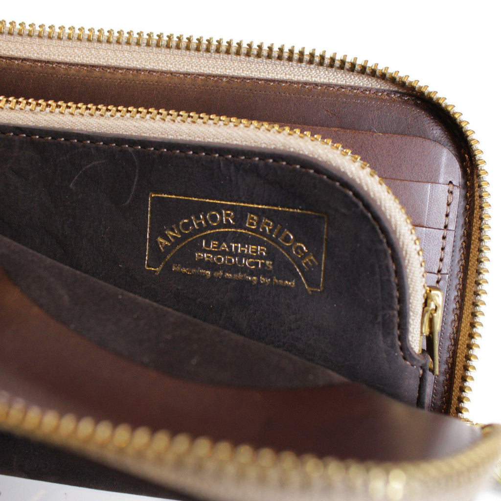 ANCHOR BRIDGE Long Zip Wallet Kudu - BOROPBY
