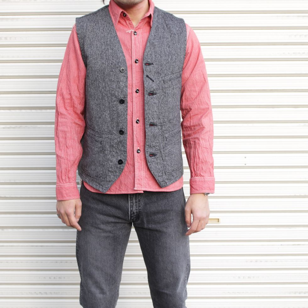 SUGAR CANE Cotton Covert Work Vest - BOROPBY
