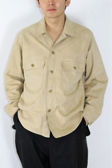HAVERSACK Ultra Suede Artificial Leather Shirts - BOROPBY