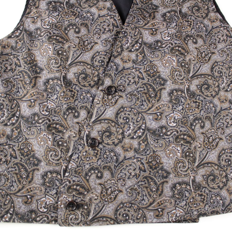 ENGINEERED GARMENTS Reversible Vest - High Count Twill - Paisley - BOROPBY
