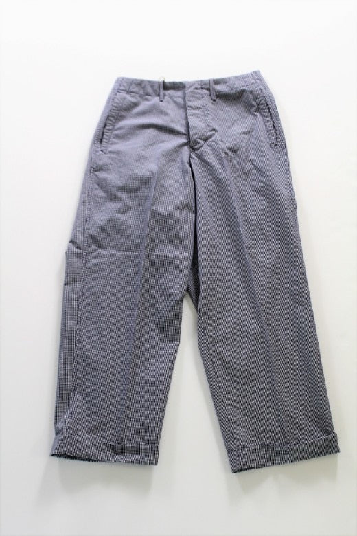 HAVERSACK Gingham Check Wide Pants - BOROPBY