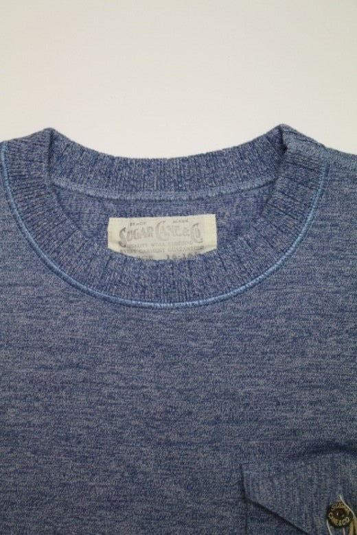 SUGAR CANE FICTION ROMANCE 4NEEDLES BORDER S/S CREW NECK - BOROPBY