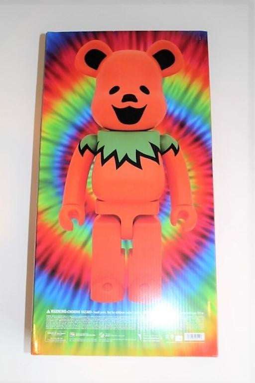 BE@RBRICK GRATEFUL DEAD DANCING BEARS ORANGE 1000% - BOROPBY