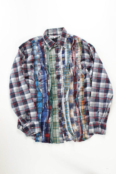 NEEDLES Ribbon Rebuild Flannel Shirt - Assorted (GRAY)