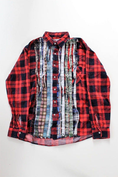 NEEDLES Ribbon Rebuild Flannel Shirt - Assorted (RED)