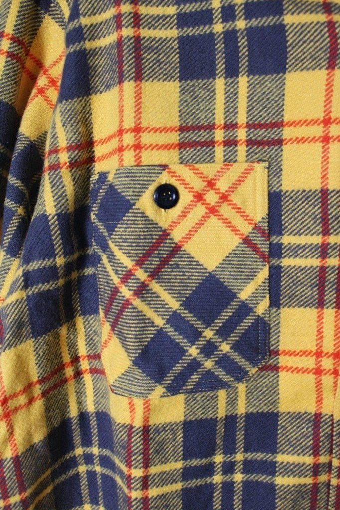 SUGAR CANE TWILL CHECK L/S WORK SHIRT - BOROPBY
