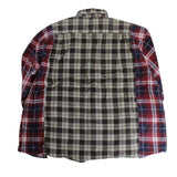 Rebuild by Needles Flannel Shirt -> Ribbon Wide Shirt - BOROPBY