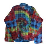 Rebuild by Needles Flannel Shirt -> Ribbon Wide Shirt / Tie Dye - BOROPBY
