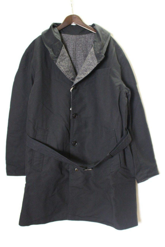 ENGINEERED GARMENTS Shawl Collar Reversible Coat - Homespun / Cotton Double Cloth - BOROPBY