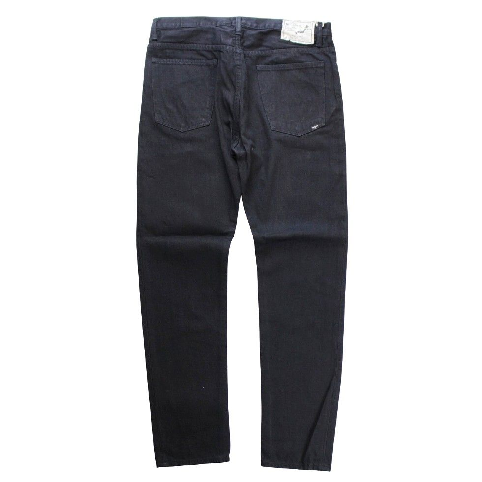 orSlow Men's C100 Super Slim Black Denim - BOROPBY