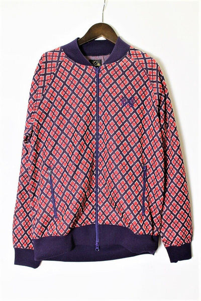 NEEDLES Rib Collar Track Jacket - Poly Jacquard (Diamond)
