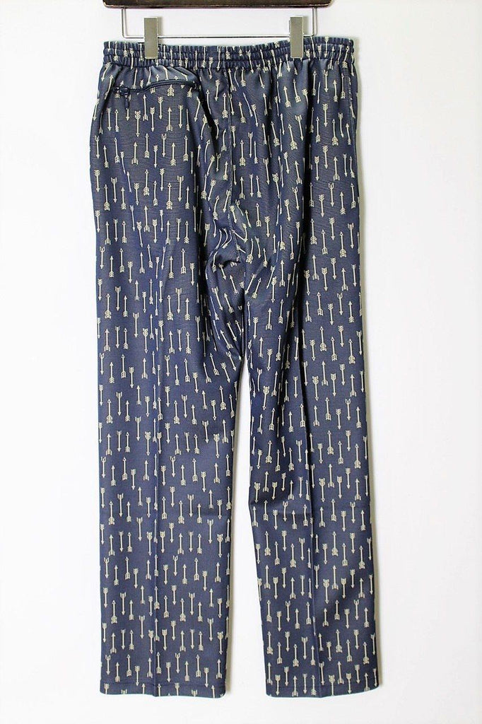 NEEDLES Track Pant - Poly Jacquard (Arrow/Navy) - BOROPBY