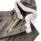 orSlow Fur Hooded Fleece Vest Unisex - BOROPBY