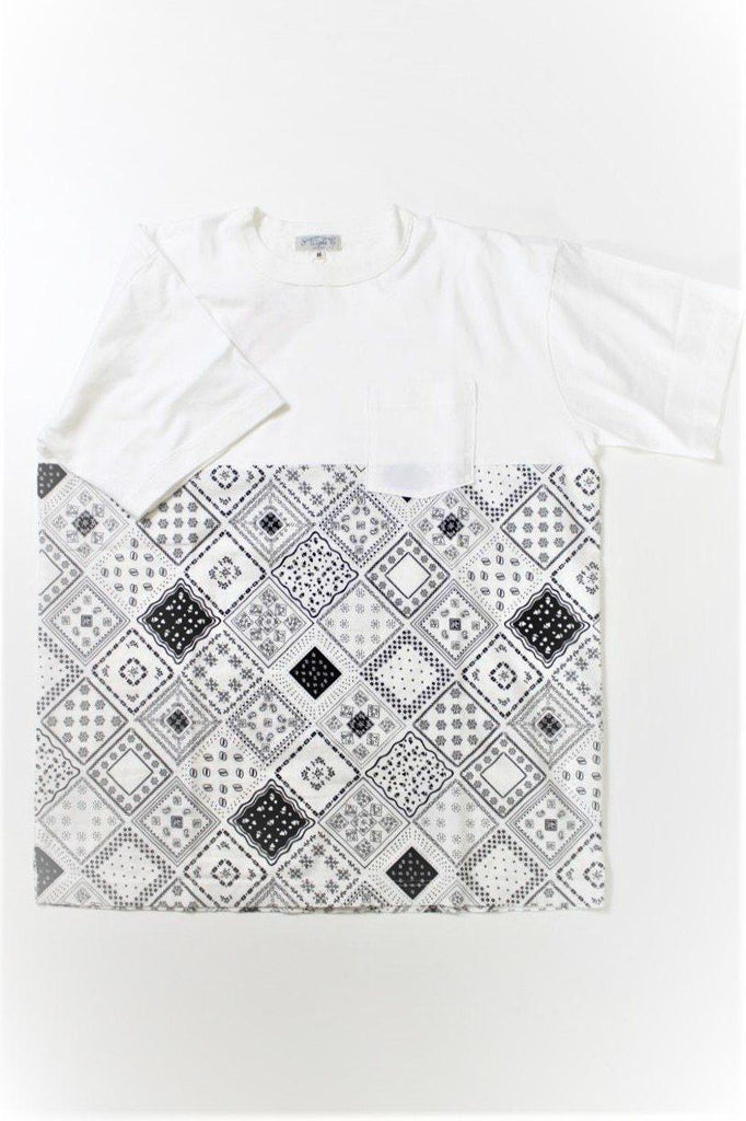 SUGAR CANE LIGHT Bandana Print T Shirt - BOROPBY