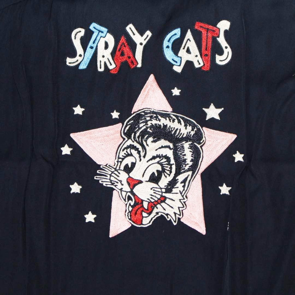 """STRAY CATS"" x ""STYLE EYES"" BOWLING SHIRT - BOROPBY"