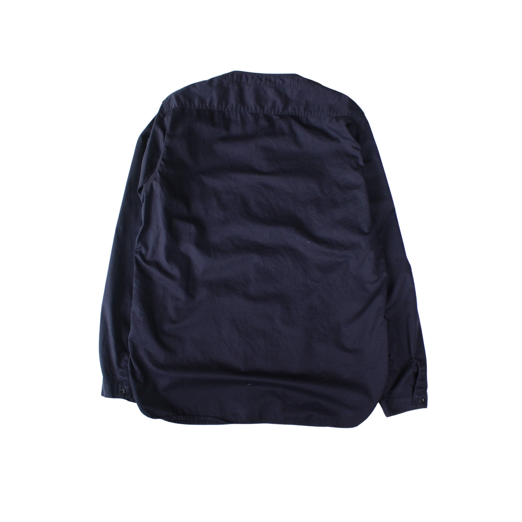 orSlow No Collar Shirt Navy