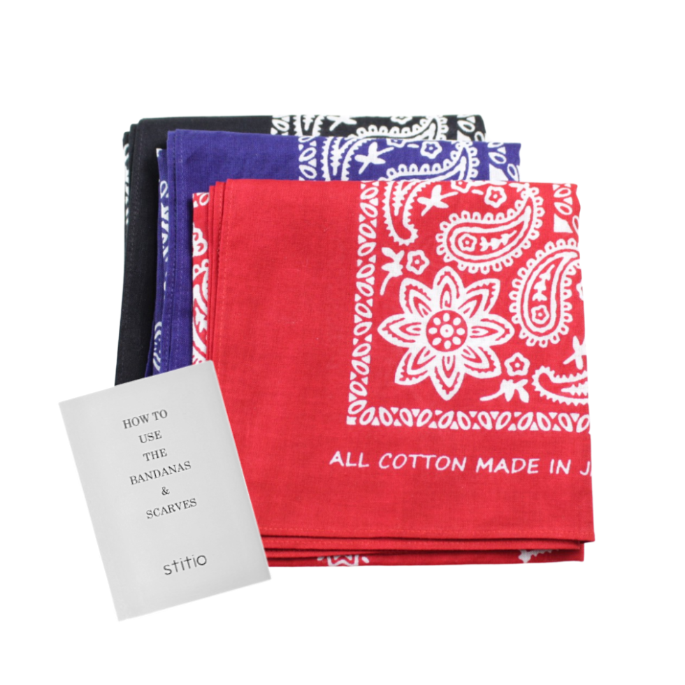 stitio Fast Color Bandana Paisely Made in Japan - BOROPBY