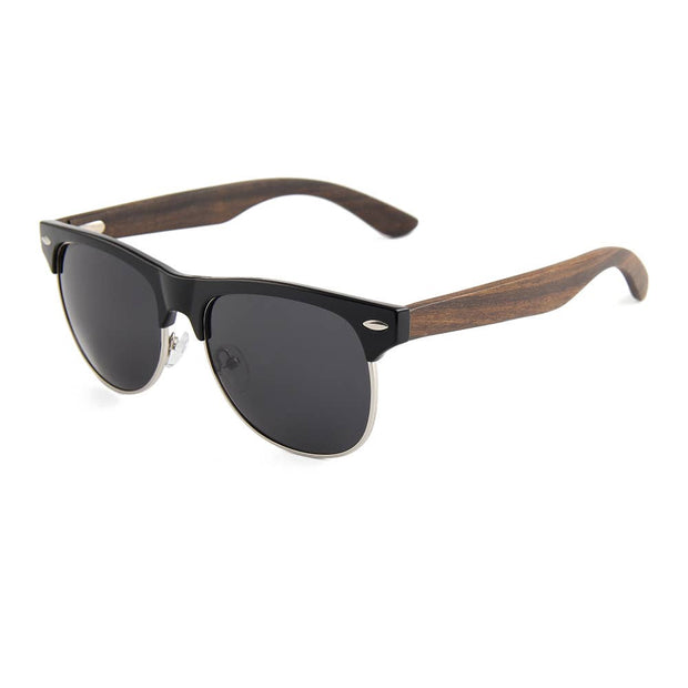 Zebrawood Retro Shade Sunglasses