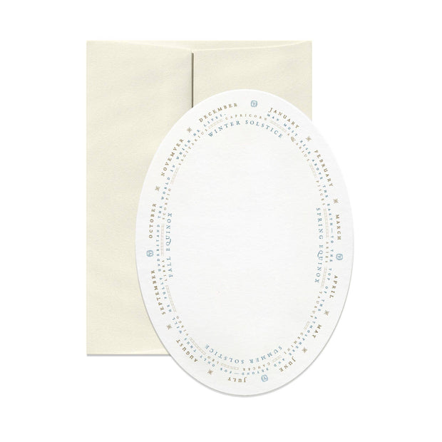 Astrology Oval Greeting Card