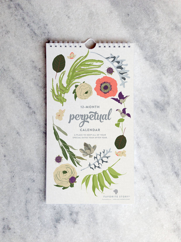 Wildflower Celebration Perpetual Calendar
