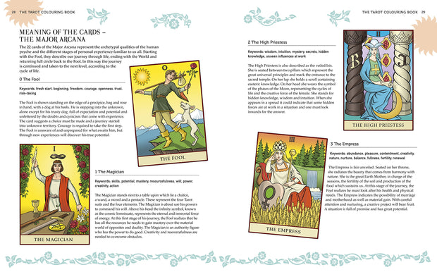 Create Your Own Tarot Deck - With a Full Set of Cards to Color
