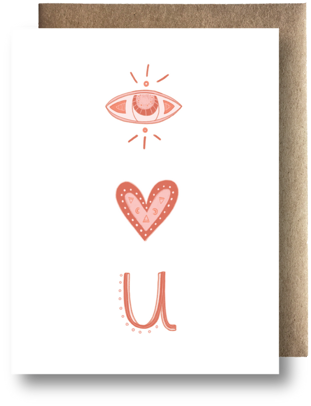 Eye Love You Card by Maija Rebecca