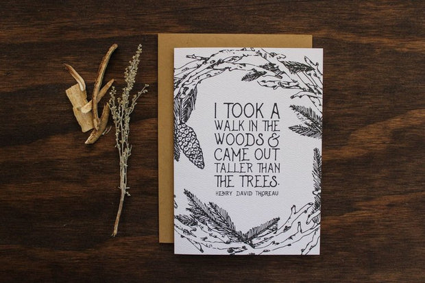 A Walk in the Woods Card by Maija Rebecca