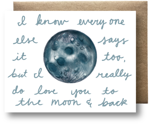 I love you to the moon & back card by Maija Rebecca