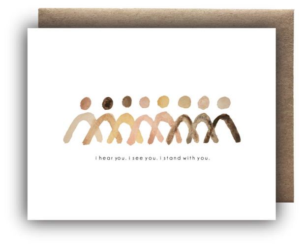 Standing Together Card by Maija Rebecca