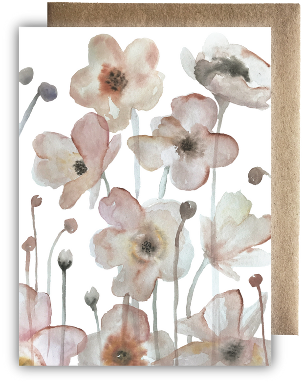 Sweet Mauve Floral Card by Maija Rebecca