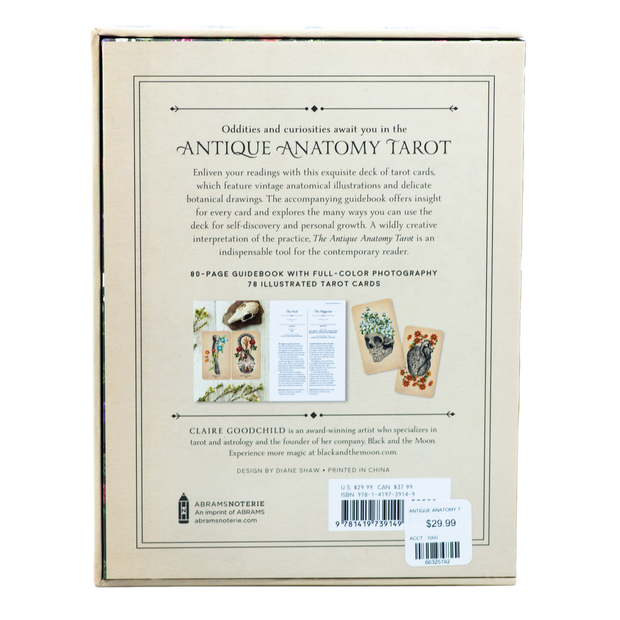 The Antique Anatomy Tarot - Deck & Guidebook for The Modern Reader