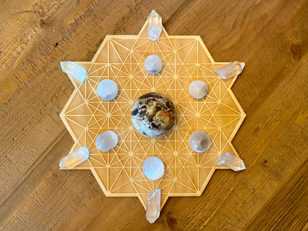 Tetrahedron Sphere Holder Crystal Grid