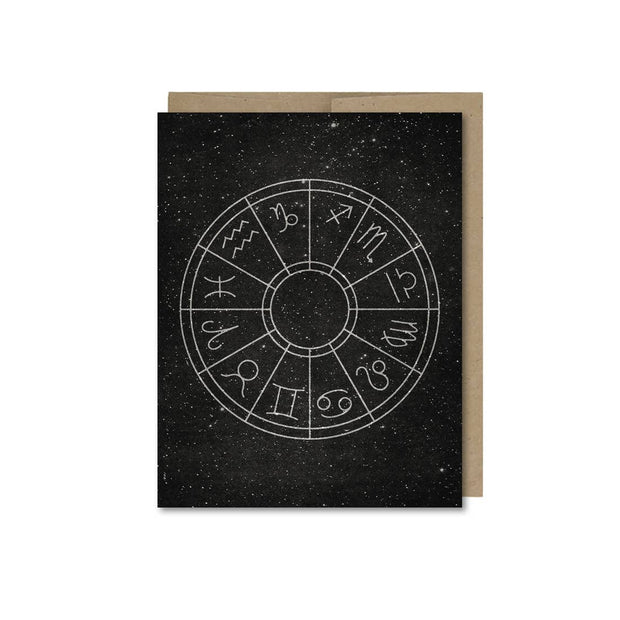 Horoscope Wheel Card by The Galek Sea