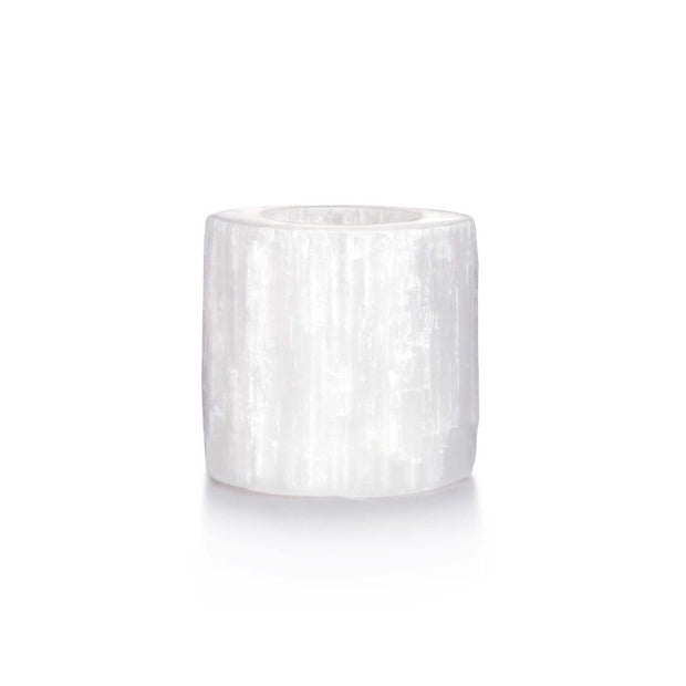 Large Selenite Candle Holder