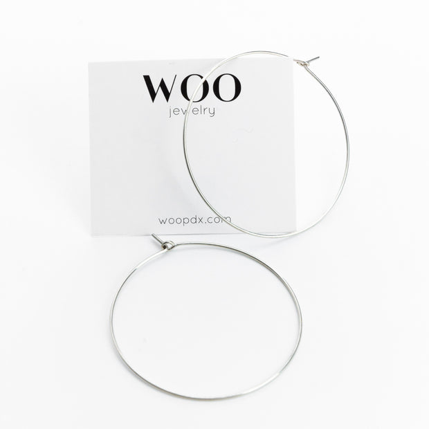 Wire Hoop Earrings - Woo Jewelry