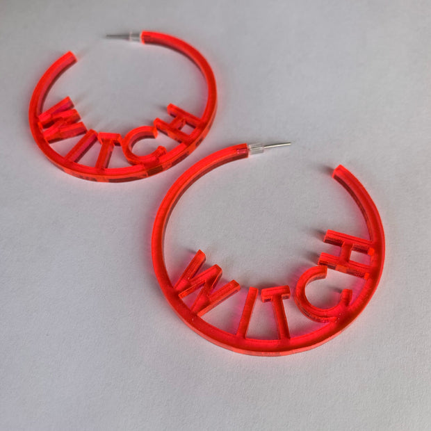 WITCH Laser Cut Hoops