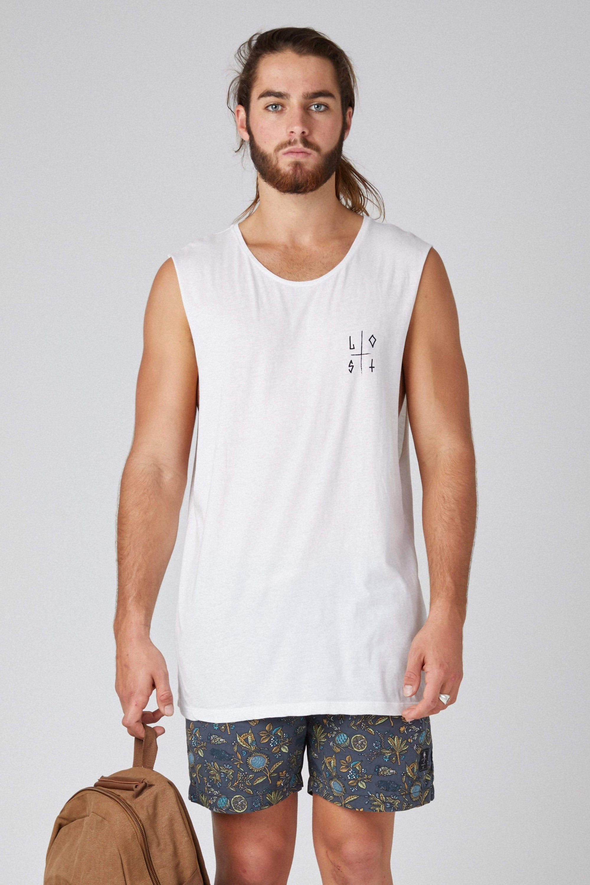 Sm Lost Retro - Mens Muscle Tank - LOST IN PARADISE