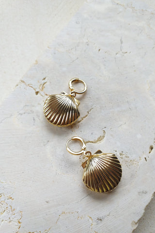 Earring Shell Lock - Jewelry - LOST IN PARADISE
