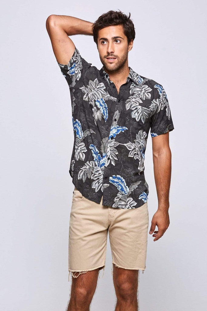 BLACK TROPICAL SHIRT